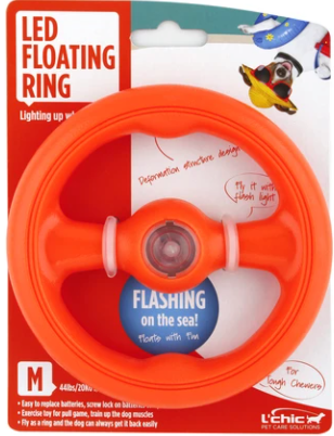 LED Mini Floating Chew Ring - Dog Toy - Bizzibabs.com