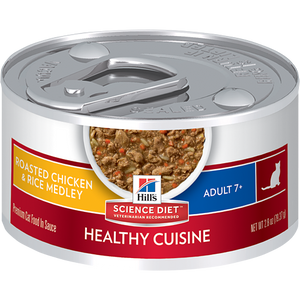 HILL'S SCIENCE PLAN Mature Adult Wet Cat Food Chicken and Rice Medley