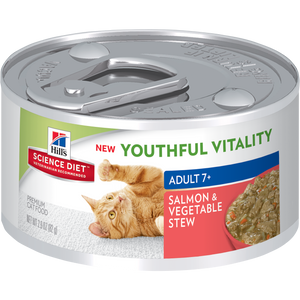 HILL'S SCIENCE PLAN Adult 7+ Youthful Vitality Wet Cat Food Salmon and Vegetable Flavour