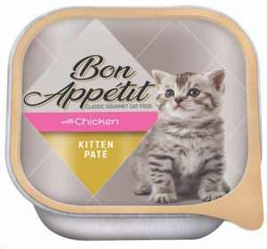 BON APPÉTIT Chicken Kitten Food Paté (100g  x 16  Trays)
