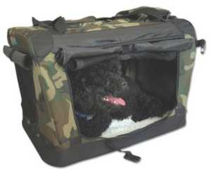 Cosmic Pets Collapsible Carrier with Privacy Curtains