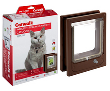 Load image into Gallery viewer, Wood Pet Door for Cats & Dogs - Multi-Magnetic Fitting