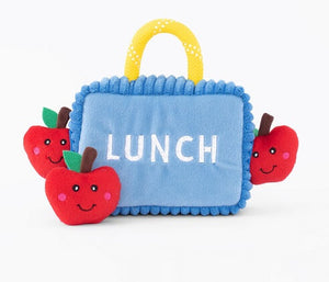 ZippyPaws Lunchbox With Apples Dog Toy