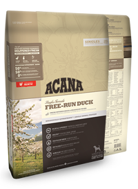 ACANA Singles Free Run Duck Dog Food for All Breeds and Life Stages. Limited Ingredients for Diet Sensitive Dogs