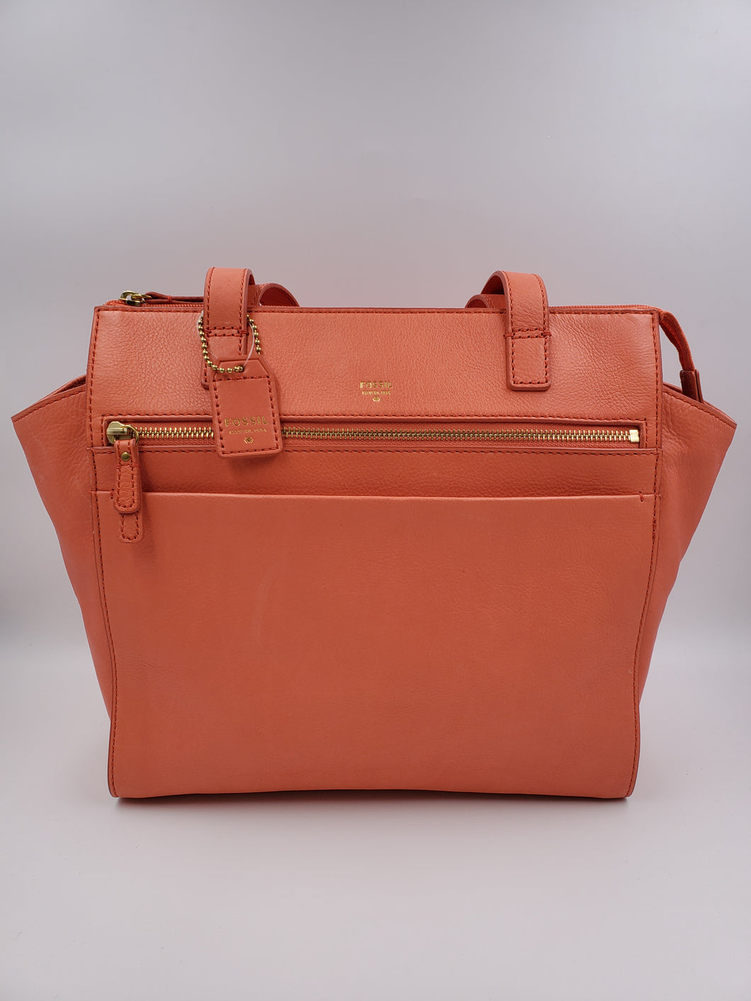 Fossil Leather Tote