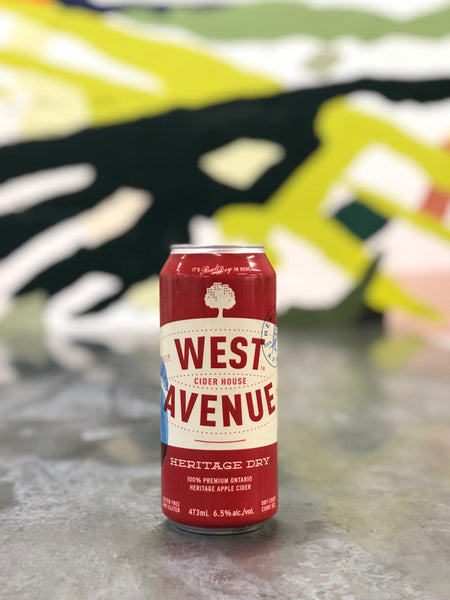 West Avenue Cider Heritage Dry + Spent grain cookie