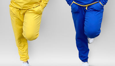 Reversible  Blue and Gold Jogger Pants