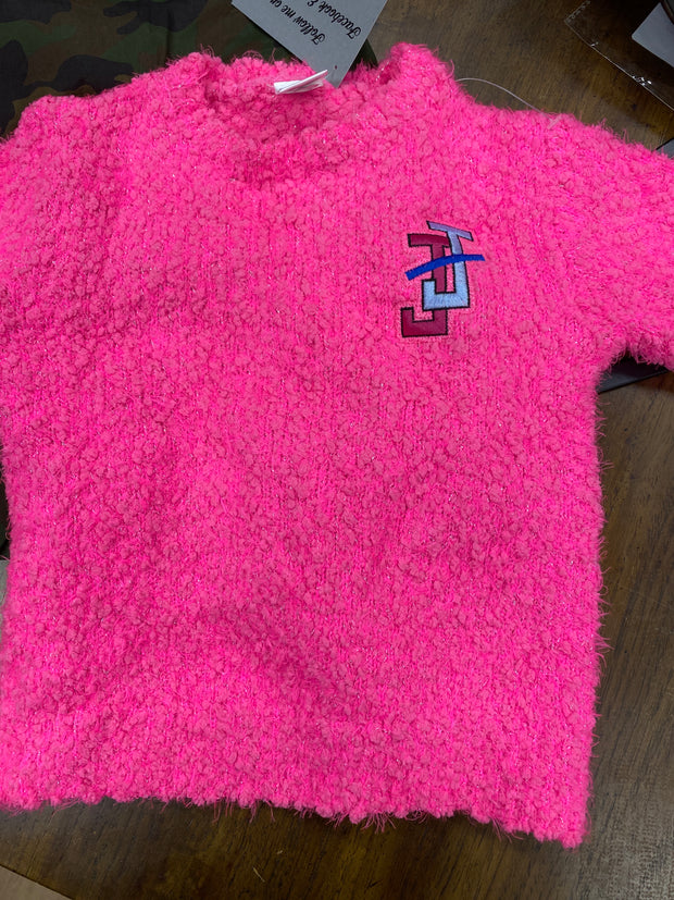 Toddler Hot Pink Sweater- Jack and Jill