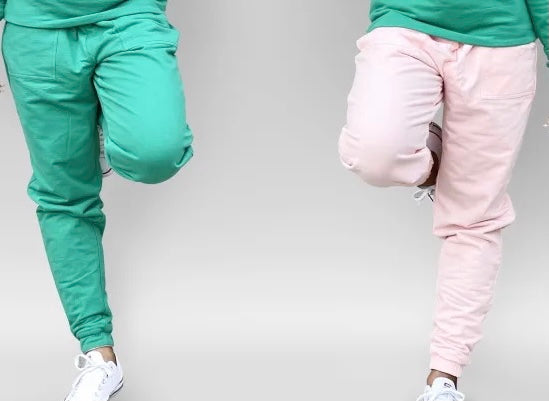 New Arrival-Reversible Pink and Green Jogger Pants
