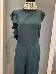 Jumpsuit- Flutter sleeve  Hunter Green