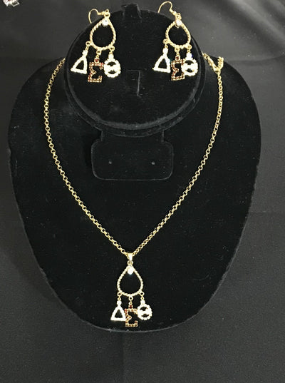 Chandelier Delta Necklace set