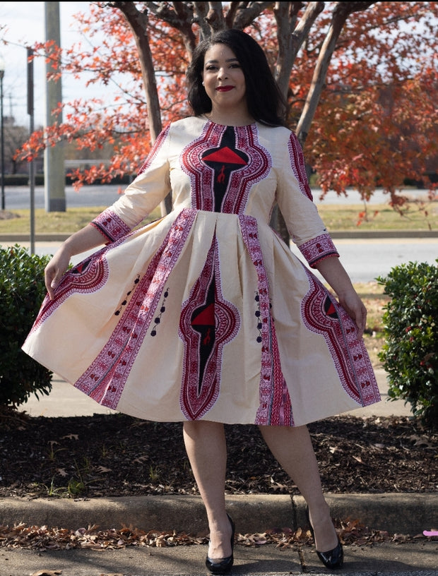 DST A-Line Dashiki Dress
