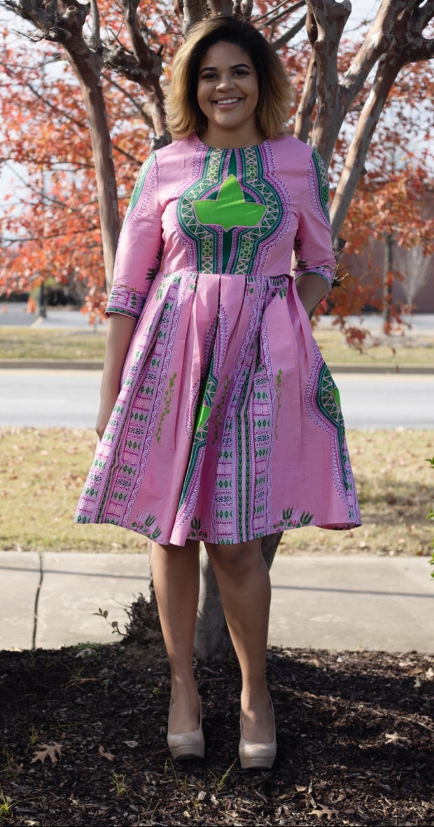 AKA A line Dashiki Dress