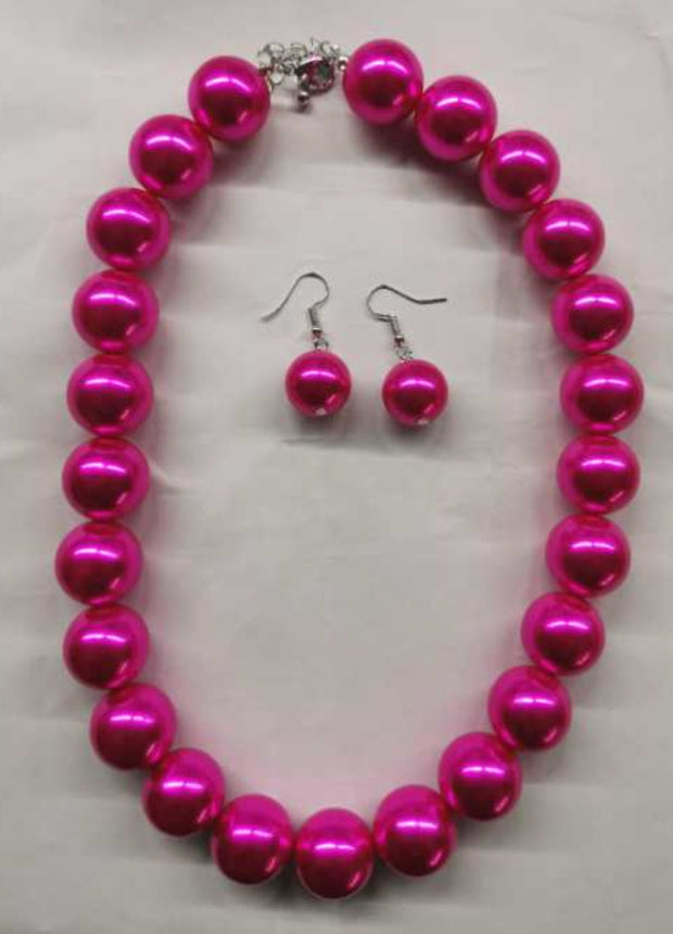 Pink Pearl Necklace set
