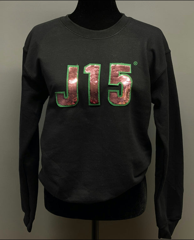 J15  Sequins Sweatshirt- Pre-Order. Ships Jan13TH