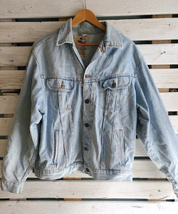Zig-Zag Stitch Denim Jacket