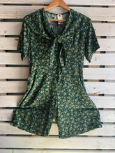 Load image into Gallery viewer, 90's Green Sailor Playsuit