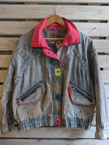Acid-Wash Light Denim Jacket