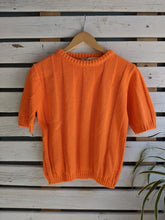 Load image into Gallery viewer, 70's Orange Short-Sleeve Sweater