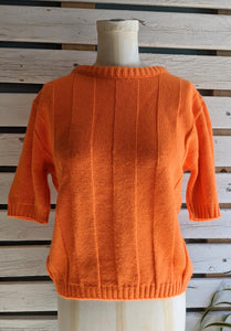 70's Orange Short-Sleeve Sweater