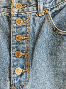 'Lawman' Button Fly Mom Jeans /sz26