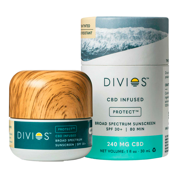 Divios PROTECT All-Natural Face CBD Sunscreen SPF 30 - Tinted - Alter-Native