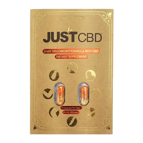 JustCBD 2-Pack Capsules - Ease Discomfort Formula - Alter-Native