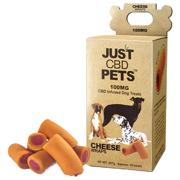 JustCBD Pets Treats for Dogs - Beef or Cheese Wraps - Alter-Native