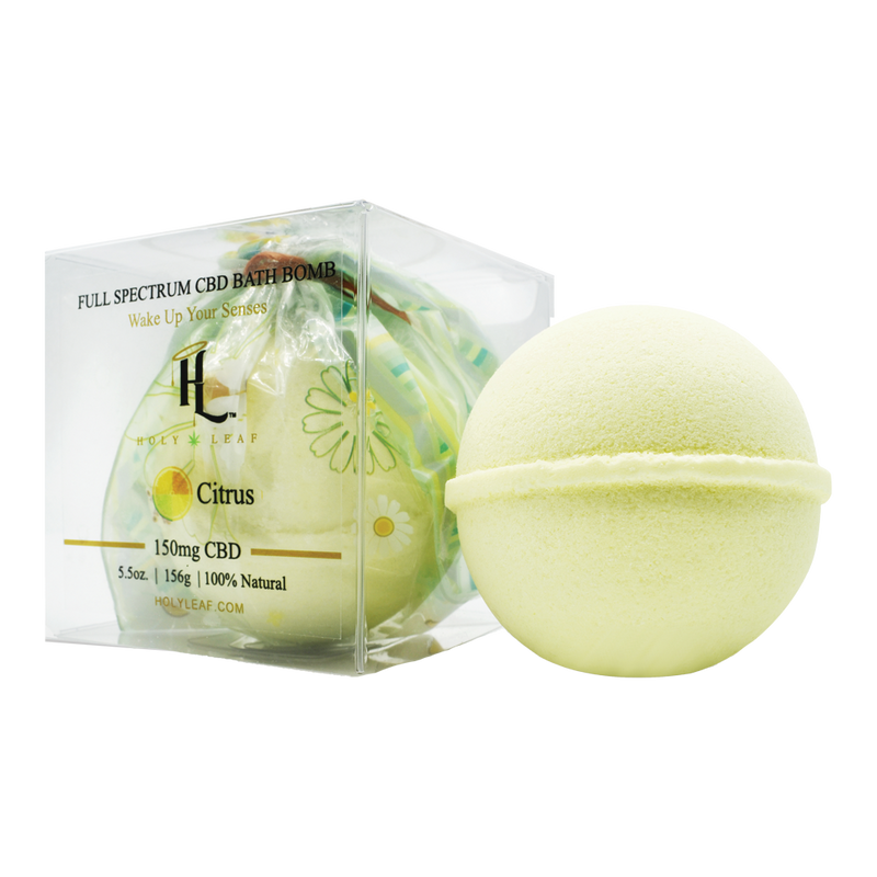 Holy Leaf CBD Bath Bomb with Essential Oils - Alter-Native