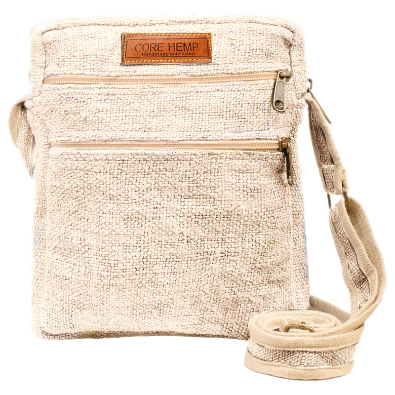 Core Hemp Multi-Pocket Crossbody Bag - Alter-Native