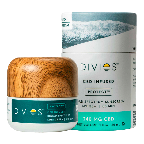 Divios PROTECT All-Natural Face CBD Sunscreen SPF 30 - Sheer - Alter-Native