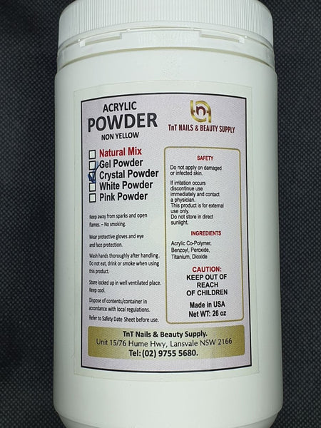 ACRYLIC POWDER TNT CRYSTAL CLEAR 26oz