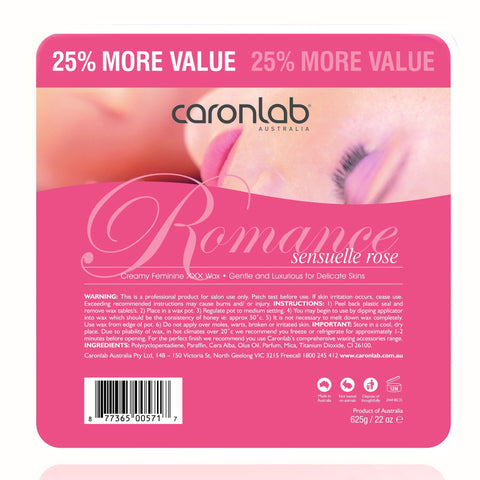 CARONLAB ROMANCE 25% MORE VALUE SENSUELLE ROSE 625g