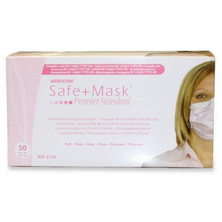 MEDICOM PRIMIER PINK MASK 50PCS BOX