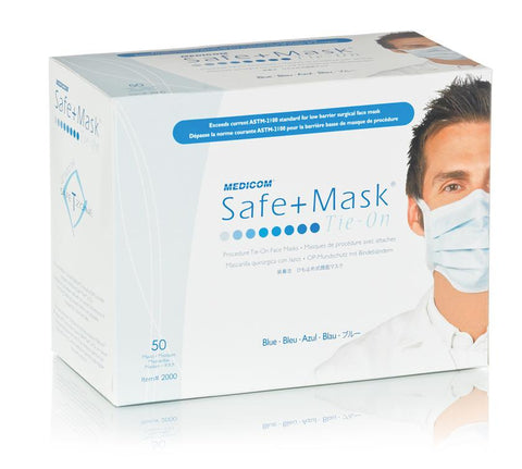 MEDICOM PRIMIER BLUE MASK 50PCS BOX