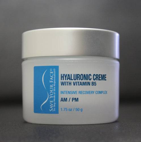 Save Your Face Hyaluronic Creme with B5 Skin Creme medical skincare