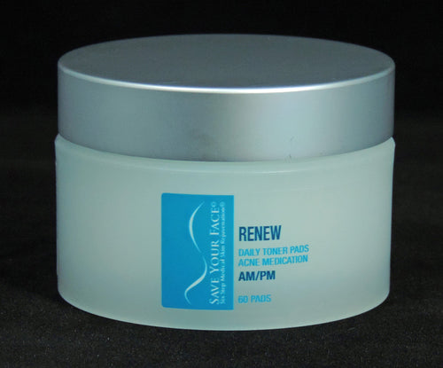 Save Your Face Renew Daily Toner Pads Acne Medication medical skincare
