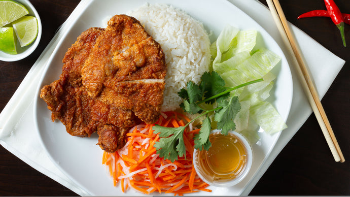 REPAS CHAUD BOL DE RIZ & PORC FRIT / HOT MEAL RICE & FRIED PORK BOWL