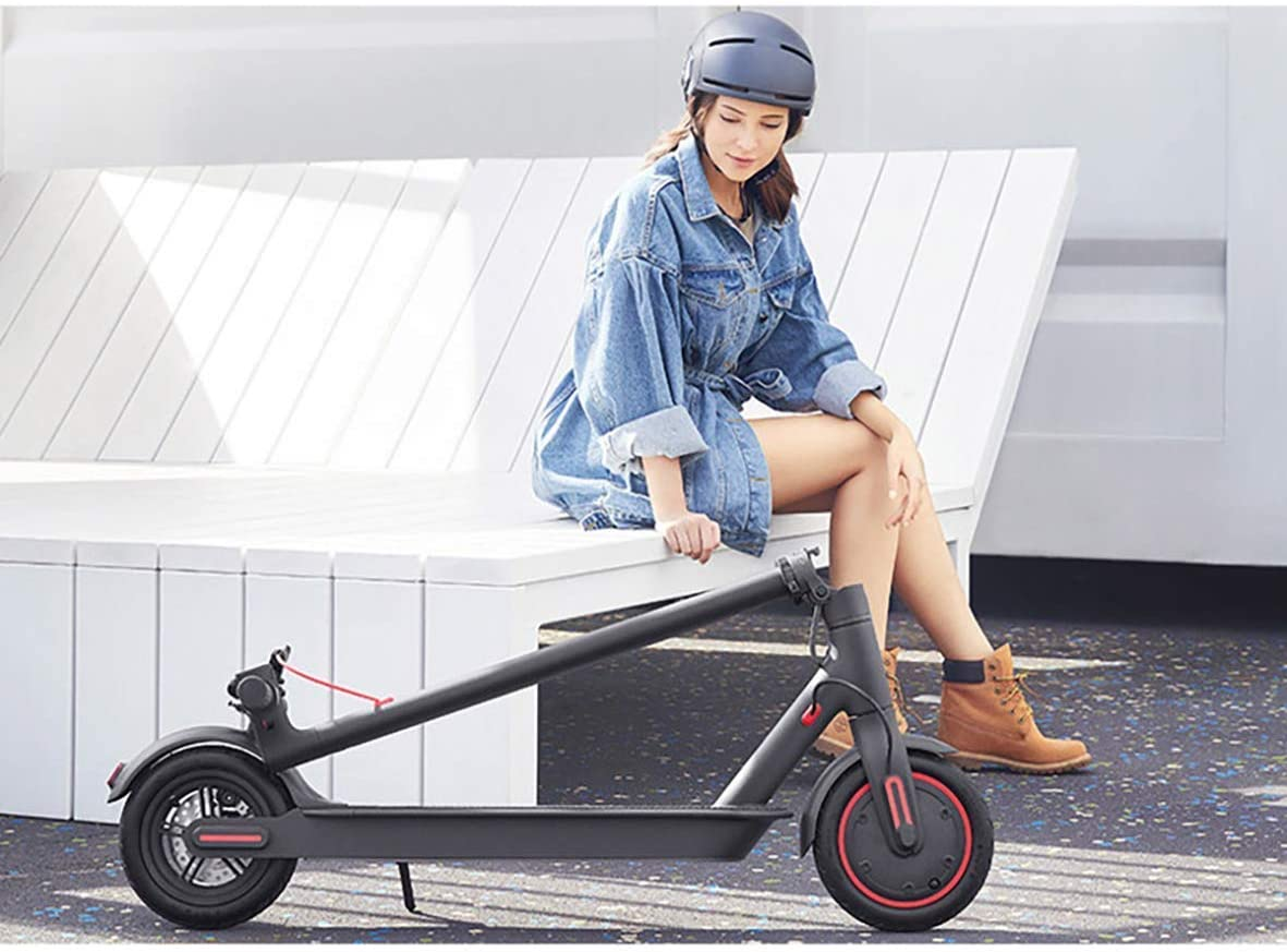 Unisex Adult EM-1603-B Pro Electric Scooter With Fixed Digital Speedometer On Board- Black, L=108 cm x W=43.3 cm x H= 112 cm