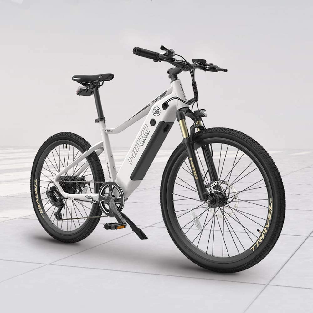 Electric bicycle, 26-inch electric power-assisted bicycle, fat tire mountain electric bicycle, suitable for outdoor cycling