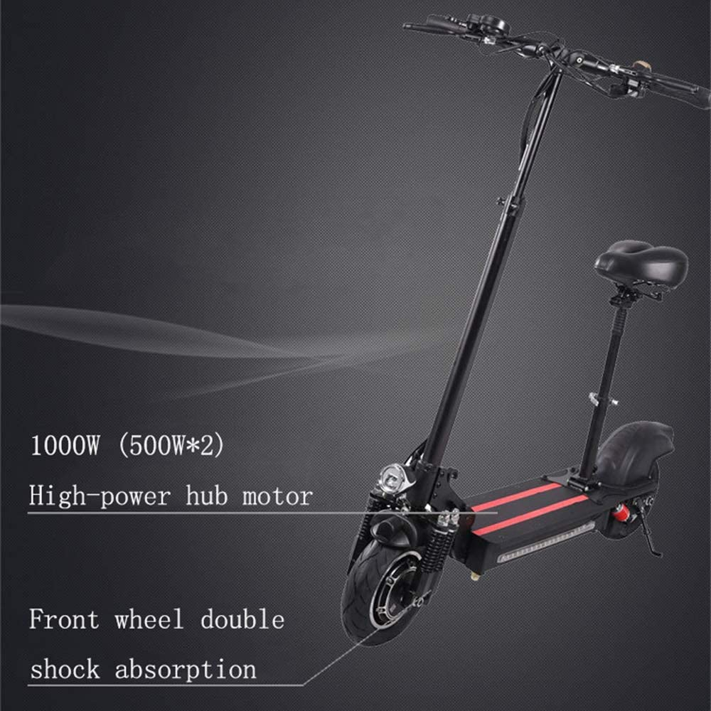 Electric Scooter,electric Kick Scooter for Adult, Scooter with Detachable Seat, 500W Motor LCD Display 3 Speed Modes 40Km Endurance, Max Speed To 45Km/h