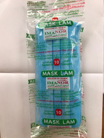 Masque de protection anti covid-19 certifié par IMANOR (5000 pcs)