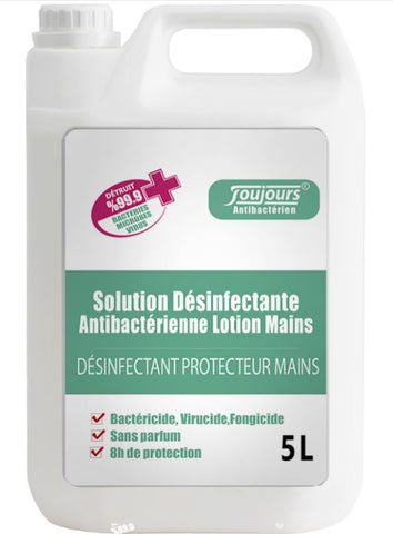 Solution Desinfectante Antivirus (Mains) (5 bidons)