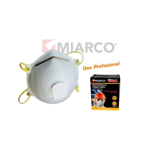 MASQUE À DOUBLE VALVE MIARCO (100 pcs)