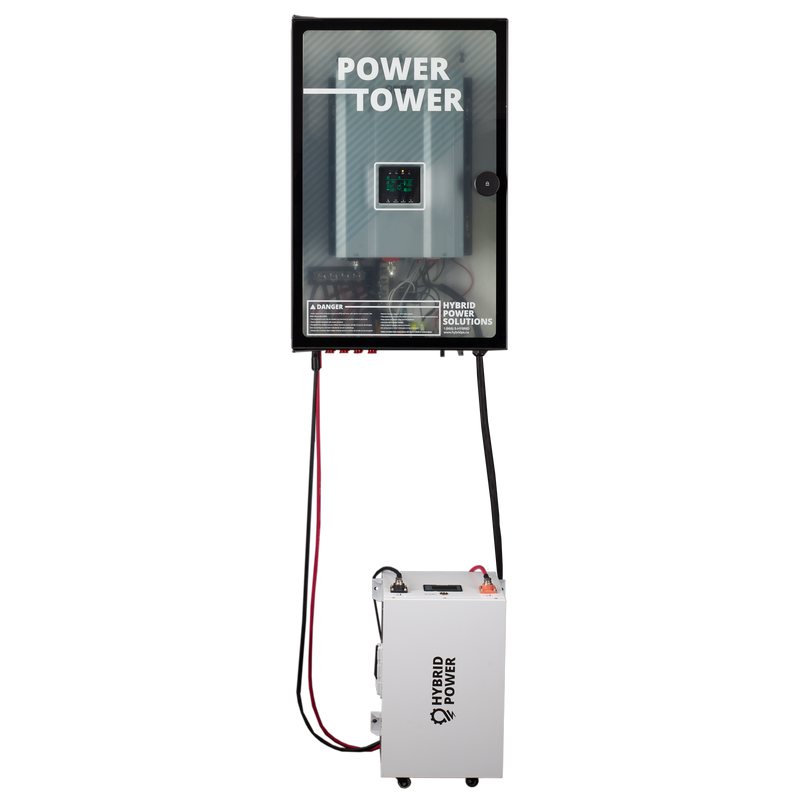 'POWER TOWER' - The Ultimate Off Grid System 6000W / Up to 60kWh