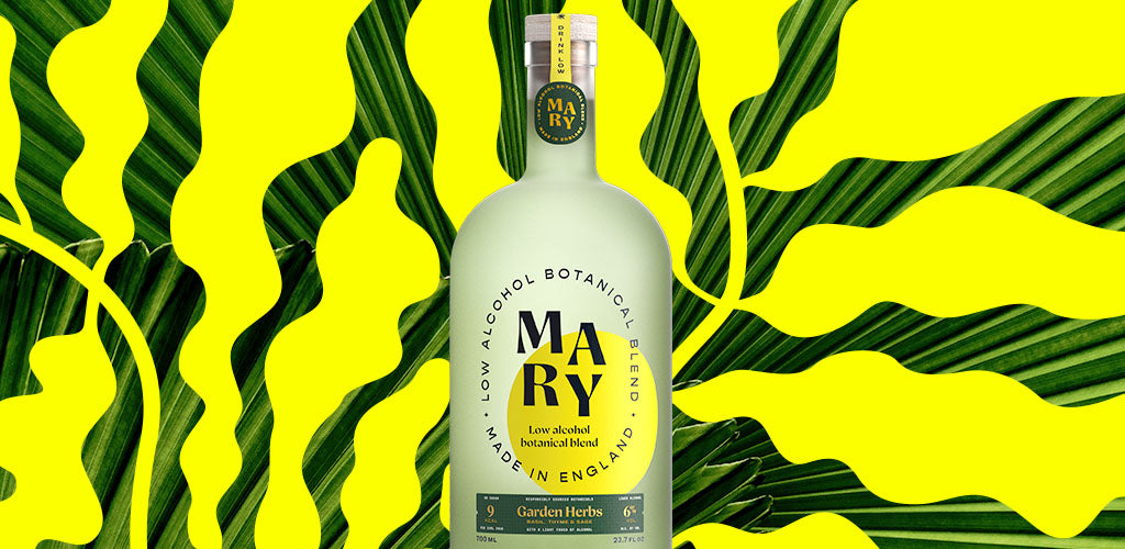 Mary, the world's first low calorie, lower alcohol botanical blend at 6% ABV