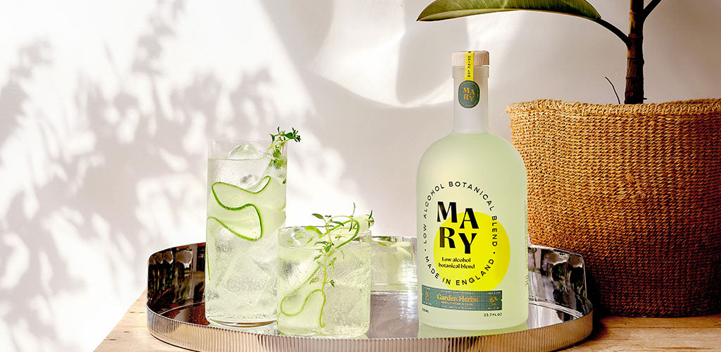 Mary's deliciously fresh, but sophisticatedly dry taste is derived from sustainably sourced plants including basil, thyme and sage, and matches perfectly with tonic water.