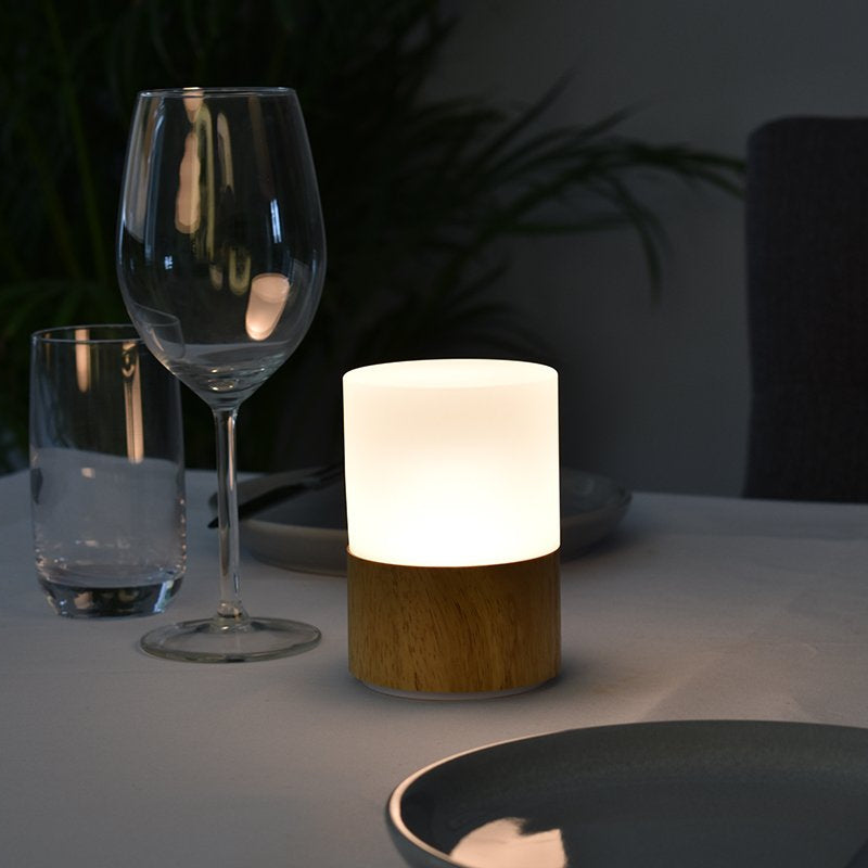 Round Wood Cordless Lamp-Rechargeable-Battery-Operated-LED-Table-Lamps-Insight Cordless Lighting