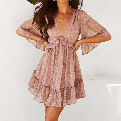 Fashionable casual light summer dress