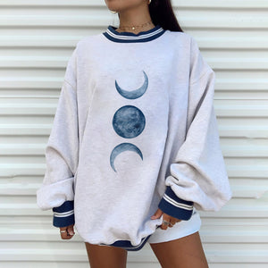 Casual round neck fashion loose Korean sweater